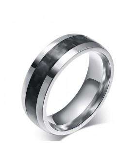 Fekete bevonatos férfi gyűrű nemesacélból