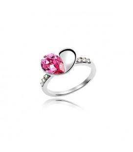 ékszer webshop Szív alakú, kristállyal díszített gyűrű
