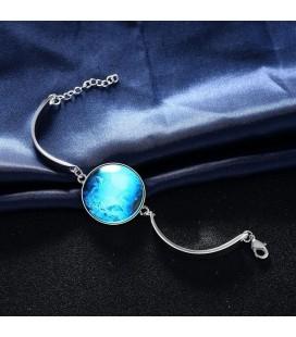 ékszer webshop Foszforeszkáló karkötő ezüst bevonattal - Óceán