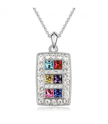 ékszer webshop Színes kristályos elegáns nyaklánc