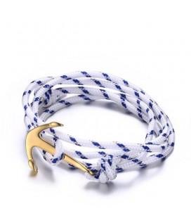 Nemesacél horgony karkötő arany színben (uniszex) - Anchor