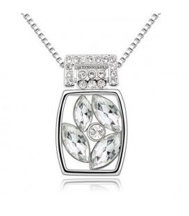 Fehér kristályos elegáns nyaklánc