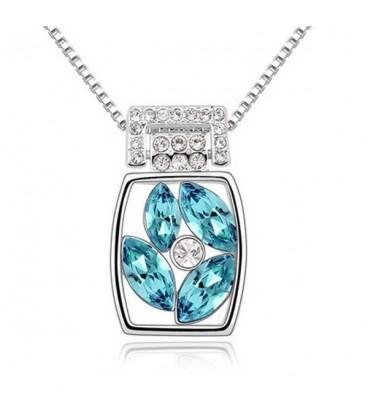 ékszer webshop Kék kristályos elegáns nyaklánc