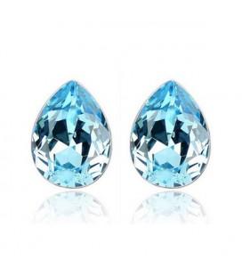 ékszer webshop Kék kristályos csepp fülbevaló