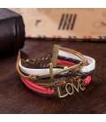 ékszer webshop Réteges műbőr karkötő - Love