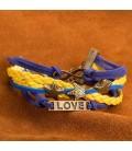 ékszer webshop Réteges műbőr karkötő - Sea Love