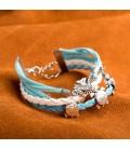 ékszer webshop Réteges műbőr karkötő - Ocean