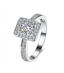 925 sterling ezüst eljegyzési gyűrű cirkónia kövekkel