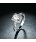 ékszer webshop 925 sterling ezüst eljegyzési gyűrű cirkónia