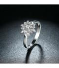 ékszer webshop 925 sterling ezüst jégvirág eljegyzési gyűrű