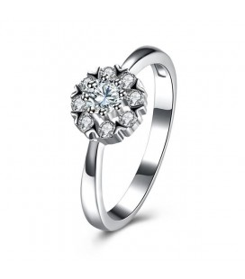 ékszer webshop 925 sterling ezüst eljegyzési gyűrű hófehér