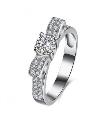 ékszer webshop 925 sterling ezüst masni gyűrű hófehér