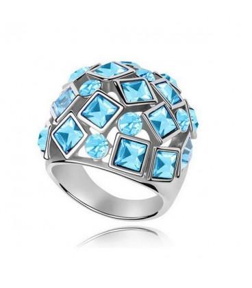 ékszer webshop Kék kövekkel kirakott egyedi gyűrű