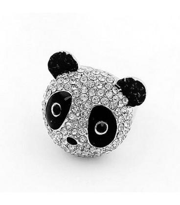 ékszer webshop Kristályos panda maci gyűrű