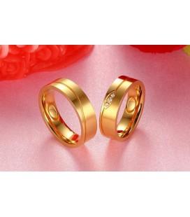 ékszer webshop Aranyozott, férfi titánium karikagyűrű