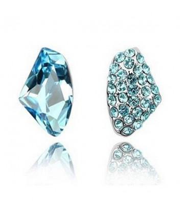 ékszer webshop Kék kristályos elegáns fülbevaló