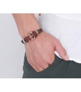 ékszer webshop Bőr karkötő horgony dísszel - Anchor