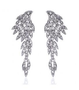Különleges, angyalszárny formájú menyasszonyi fülbevaló