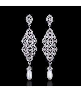 ékszer webshop Exkluzív menyasszony fülbevaló kristály és
