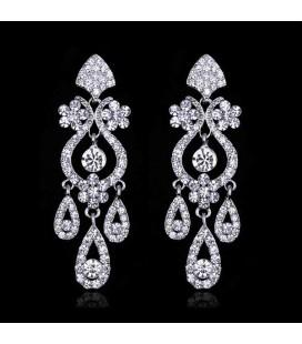 Luxus menyasszonyi fülbevaló