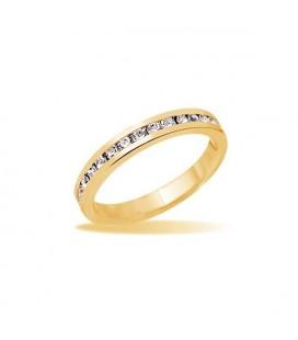 Apró köves kristályokkal díszített gyűrű