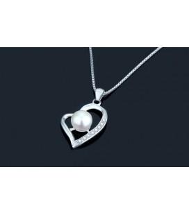 ékszer webshop Gyöngyös ezüst szív medál cirkóniával