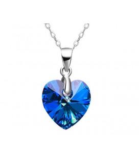 Kék Swarovski kristályos ezüst medál