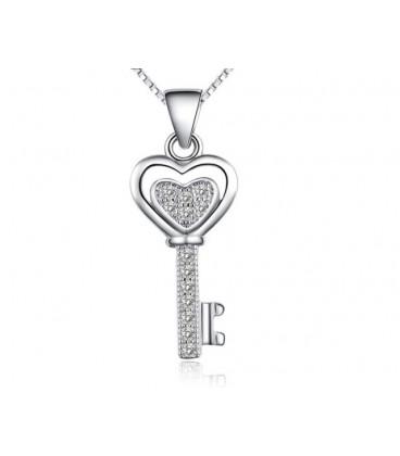 ékszer webshop Ezüst kulcs medál kristályokkal