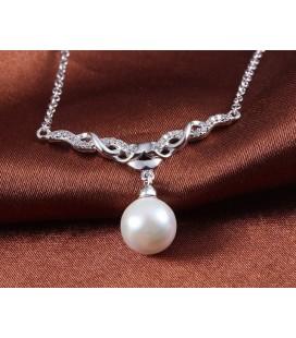 ékszer webshop Vintage ezüst nyaklánc gyönggyel