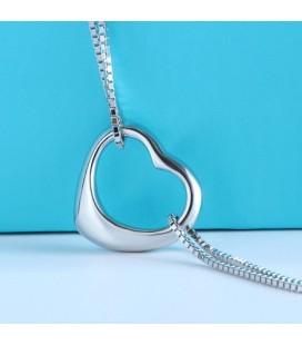 ékszer webshop Dupla láncos ezüst karkötő szív charmmal