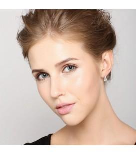 ékszer webshop Elegáns ezüst fülbevaló kerek cirkóniával