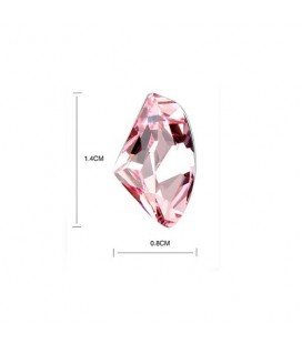 ékszer webshop Asszimetrikus, rózsaszín kristályos fülbevaló