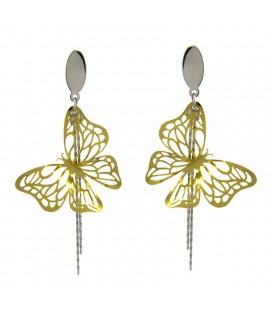 ékszer webshop Arany pillangók nemesacél fülbevaló