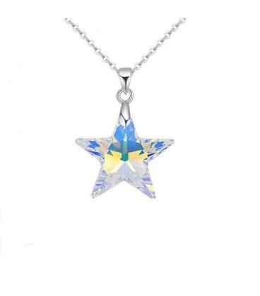 ékszer webshop Swarovski kristályos csillag medál nemesacél