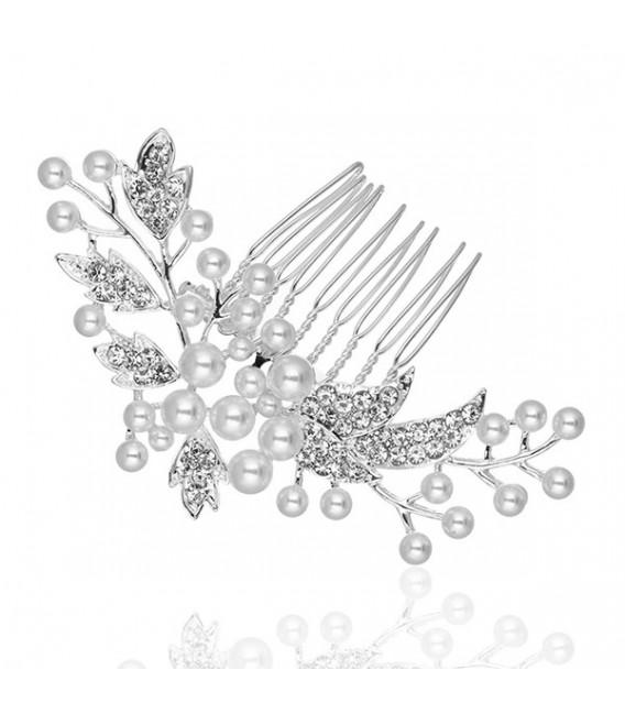 ékszer webshop Gyöngyös-kristályos menyasszonyi hajfésű