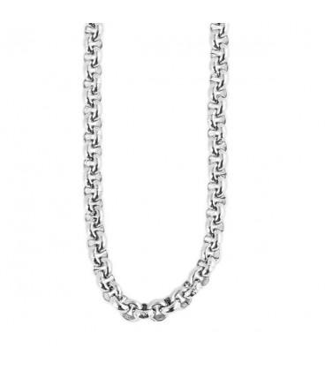 ékszer webshop Sűrű láncszemes nemesacél nyaklánc (60+5 cm x 3