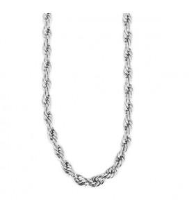 Csavart láncszemes nemesacél nyaklánc (70+5 cm x 4 mm)