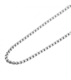 ékszer webshop Nemesacél nyaklánc sűrű láncszemekkel (60 cm x 3