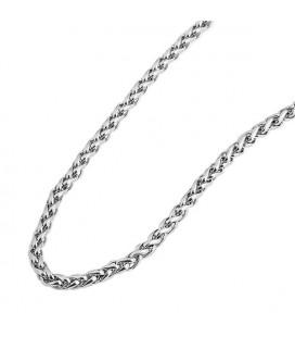 Fonott szemes nemesacél nyaklánc (70 cm x 4 mm)