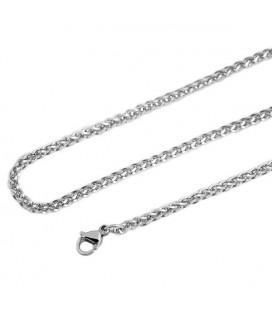 ékszer webshop Fonott szemes nyaklánc nemesacélból (60+5 cm x 3
