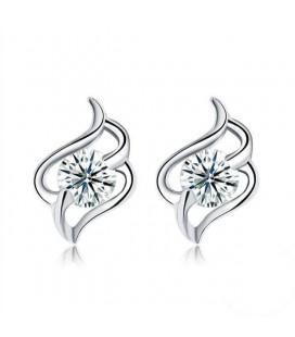 Elegáns ezüst fülbevaló cirkóniával