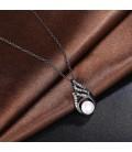 ékszer webshop Fekete gyöngy, kristályos nyaklánc
