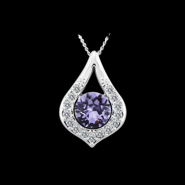 9244bb6df ✅ Különleges Csepp medál lila Swarovski kristállyal olcsó áron az é...