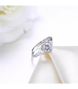 Kristályvirág, állítható ezüst gyűrű cirkóniával