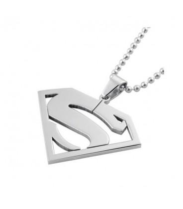 ékszer webshop Nemesacél Superman medál nyaklánccal