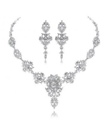 7567b9be73 Különleges 2 részes, barokk stílusú esküvői ékszerszett olcsó áron ...