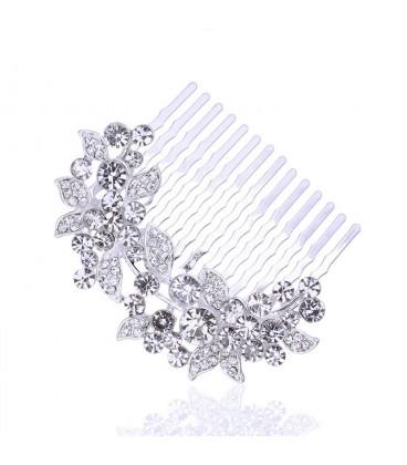 ékszer webshop Ragyogó kristályos menyasszonyi hajfésű