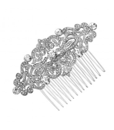 ékszer webshop Exkluzív, kristályos menyasszonyi hajfésű