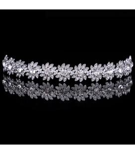 Exkluzív, ragyogó kristályos esküvői fejdísz