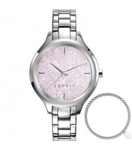 Esprit csillámos női karóra + acél karkötő szett ES109602005